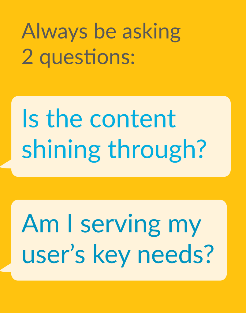 2 questions for Communication Design work
