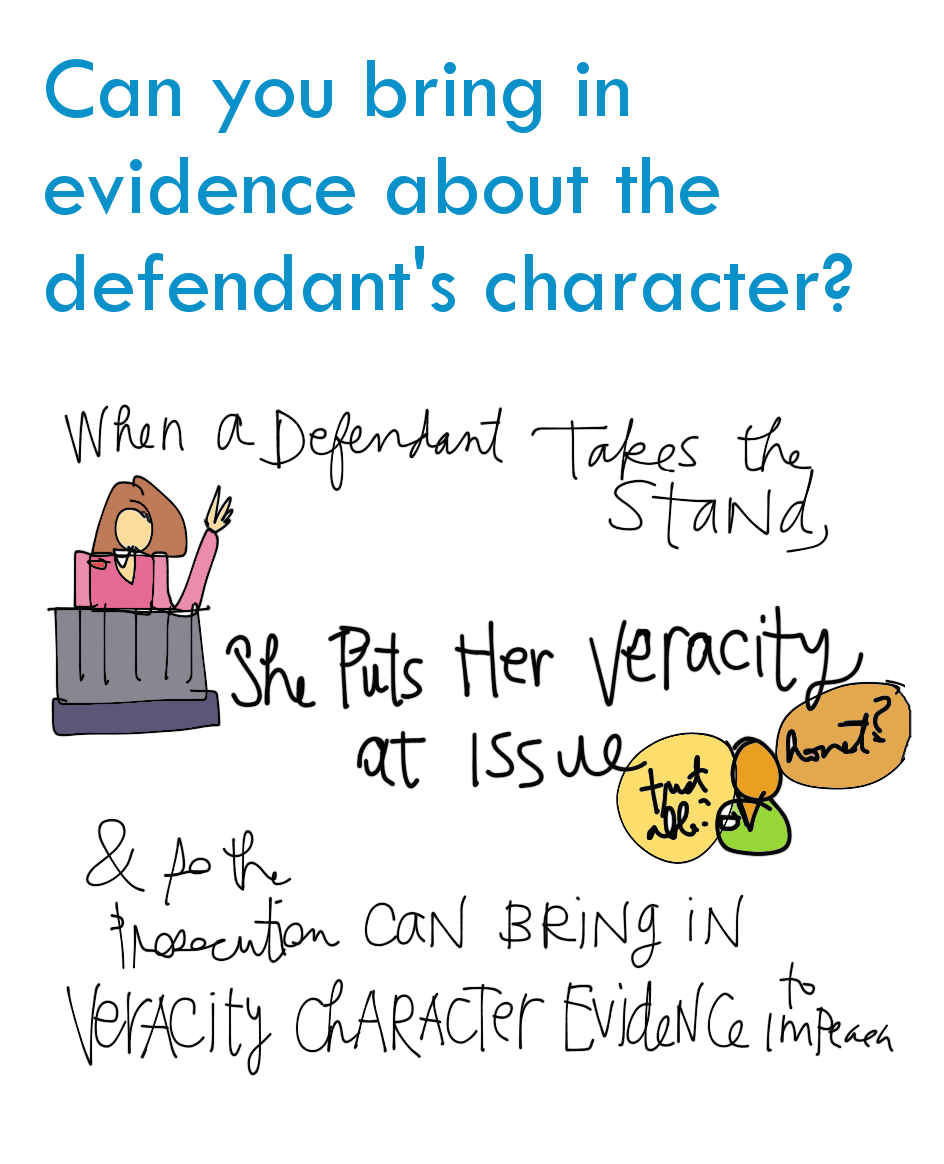 Bar Notes Image - can i bring in character evidence about the defendant