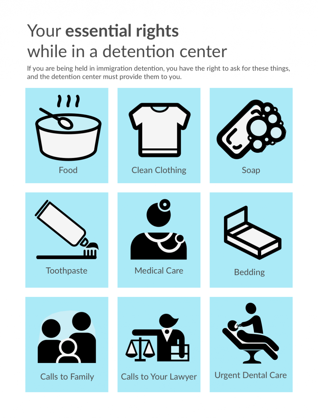 Know Your RIghts Essentials - detention center rights for immigrants